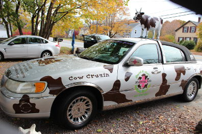 Cow car from side
